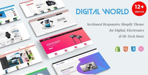 Shopify Digital world theme