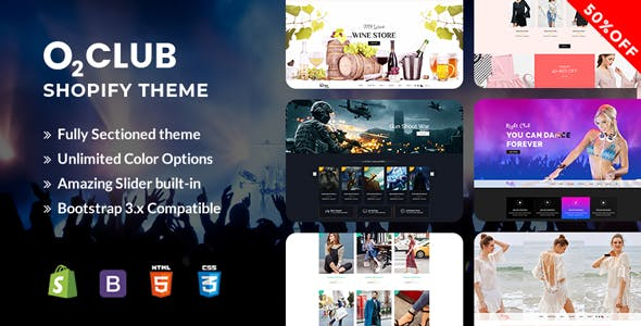 O2 Club Shopify Template
